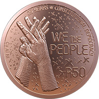 Celebrating SA R50 Bronze REV 1 - SA Mint unveils new R50 and R500 coins to commemorate 25 years of democracy in SA