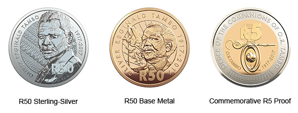 OR Tambo Celebrating South Africa 3 Coin Set