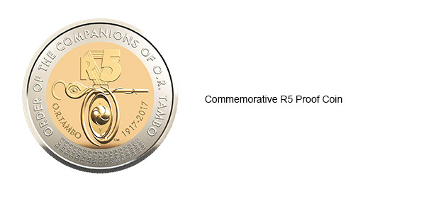 2017 OR Tambo Commemorative R5 Proof Coin