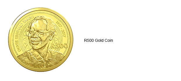 2017 OR Tambo R500 Gold Coin