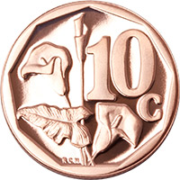SA Mint - Circulation coins - 10c