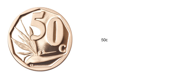 SA Mint Circulation Coins - 50c