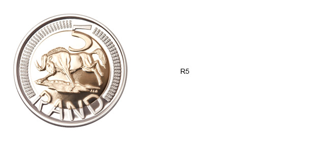 SA Mint Circulation Coins - R5