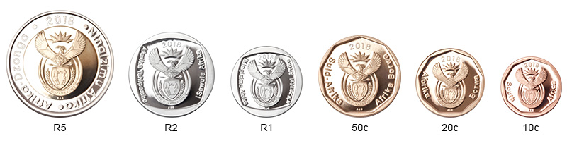 SA Mint - Circulation coins - Obverses