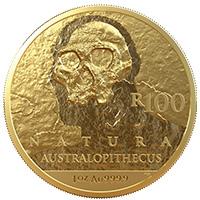 R100 1oz Gold: Australopithecus Africanus