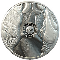 Big 5 Elephant 1oz Silver AG 999