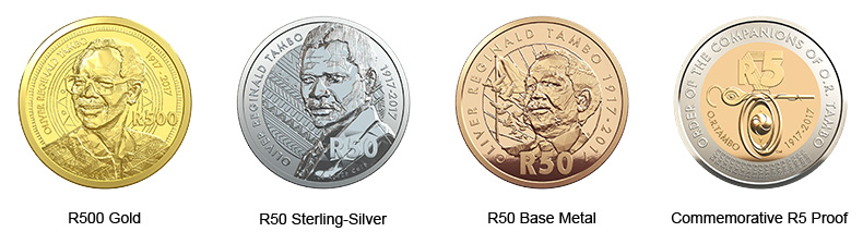 OR Tambo Celebrating South Africa 4 Coin Set
