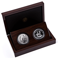 Big 5 Elephant and Krugerrand Proof Set – Silver