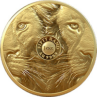 Big 5 Lion 1oz Gold AG 999