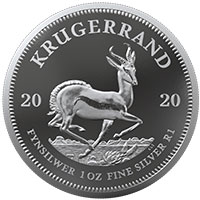 1oz Fine-Silver Proof Krugerrand