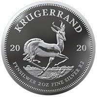 2oz Fine-Silver Proof Krugerrand