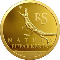 R5 1/20oz gold: Euparkeria capensis