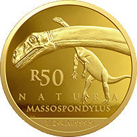 R50 ½ oz gold: Massospondylus carinatus