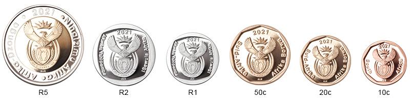SA Mint - Circulation coins - Obverses