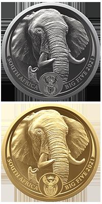 Big 5 Elephant Obverse