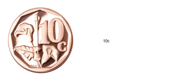 SA Mint Circulation Coins - 10c
