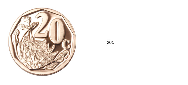 SA Mint Circulation Coins - 20c